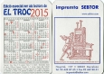 Calendario Sebtor El troc 2015